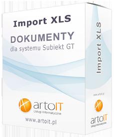 pudełko subiekt gt import dokumentu