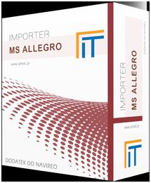 box programu navireo import zamówień z MS Allegro
