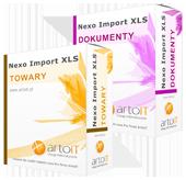 pudełko pakiet subiekt nexo import towarów i dokumentu
