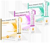 pudełko pakiet subiekt nexo import towary, dokumenty, kontrahenci