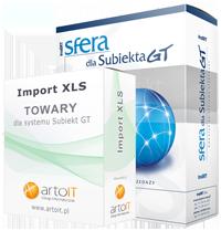 pudełko pakiet sfera subiekta GT import towarów