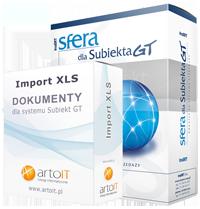 pudełko pakiet sfera subiekta GT import dokumentu
