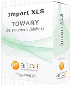 pudełko importera towarów dla GT